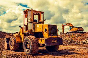 attrezzature di lavoro per scavo su terreni